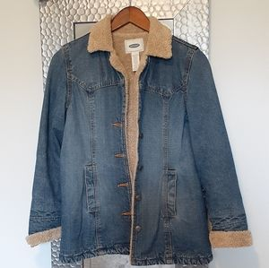 Old Navy Sherpa-Lined Jean Jacket- SZ Small